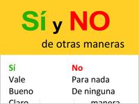 Spanische Ausdrücke für Ja und Nein
