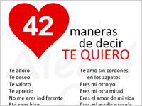 """42 Arten, auf Spanisch """"ich liebe dich"""" zu sagen"""