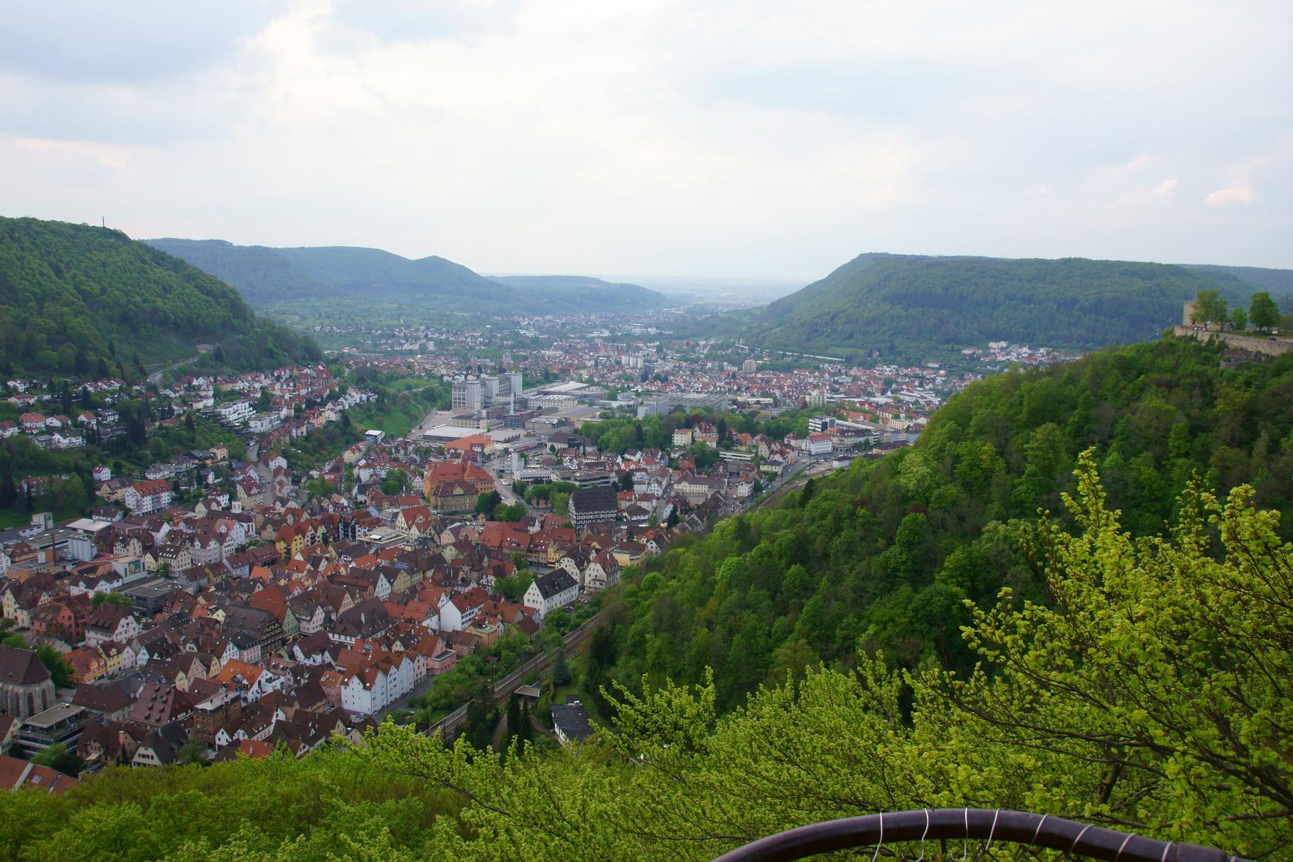 Blick auf Geislingen/Steige vom Aussichtspunkt Ödenturm