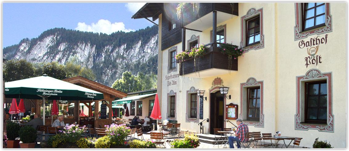 Beer garden at the Gasthof Hotel zur Post