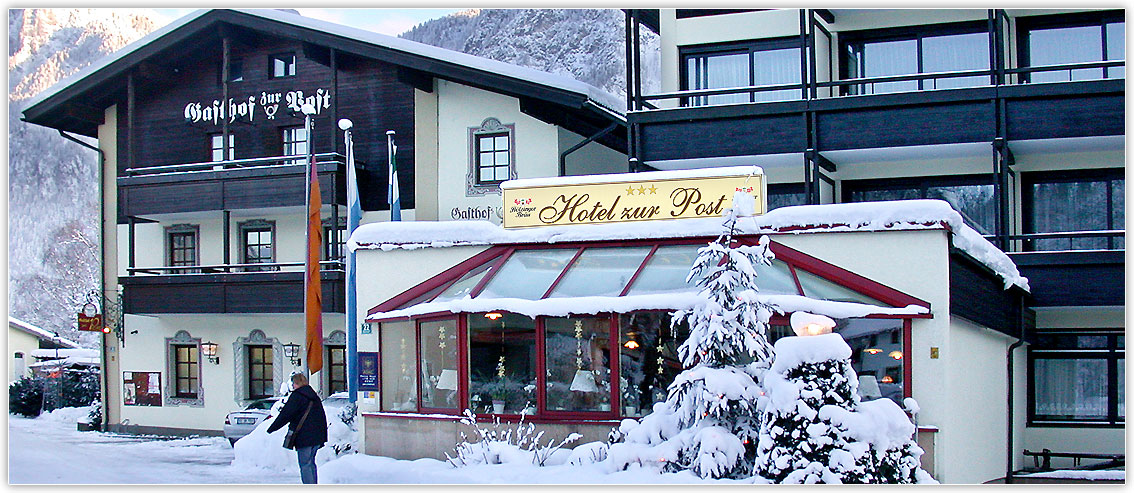 Wintertraum in Kiefersfelden, Hotel zur Post