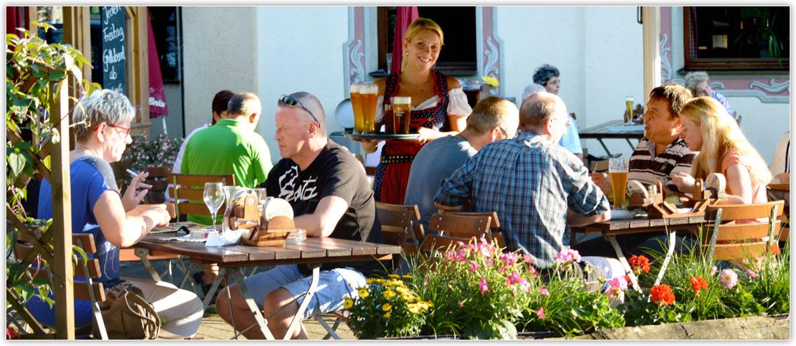 Biergarten im Gasthof Hotel zur Post Kiefersfelden