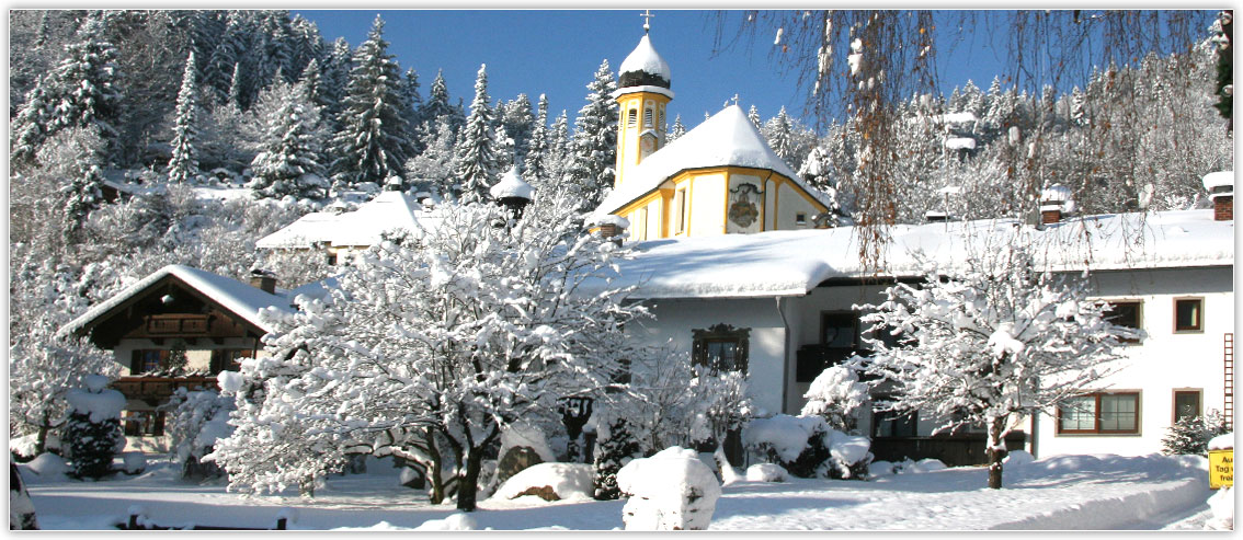 Winterlandschaft Kiefersfelden, Hotel zur Post