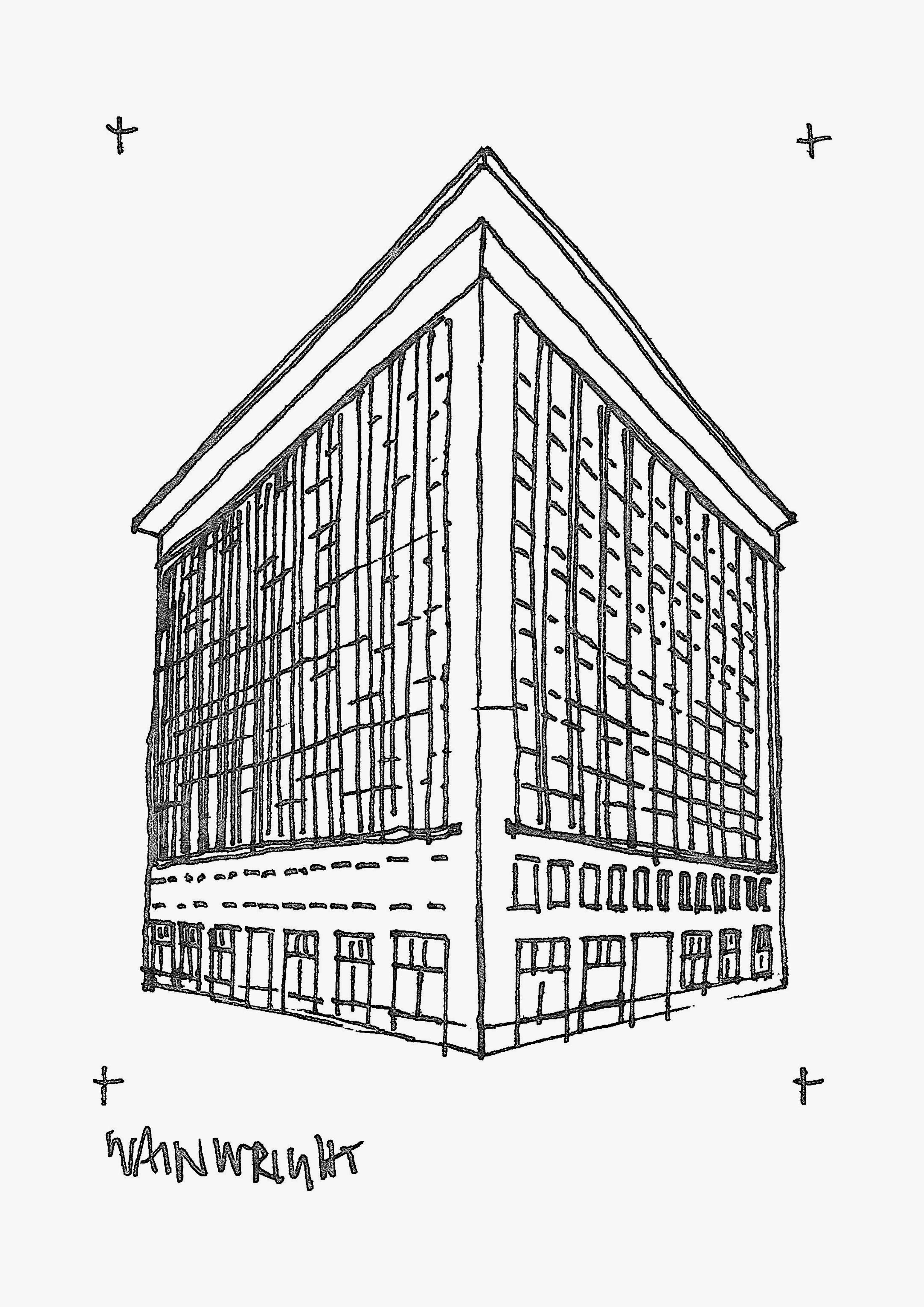 Wainwright Building sketched by Heidi Mergl Architect