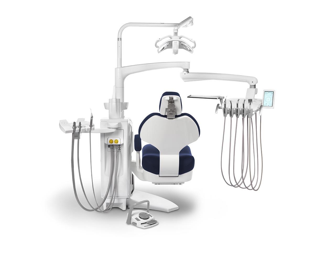 S5 H - elektronische Behandlungseinheit mit hängenden Schläuchen