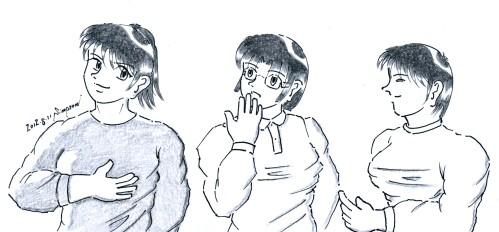 """恋バナに花を咲かせる夏輝、春菜、真雪(Twin's Story 8 """"Marron Chocolate Time"""")"""