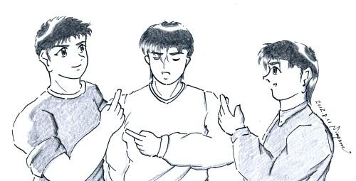 """エロトークに花を咲かせる修平、健太郎、龍(Twin's Story 8 """"Marron Chocolate Time"""")"""