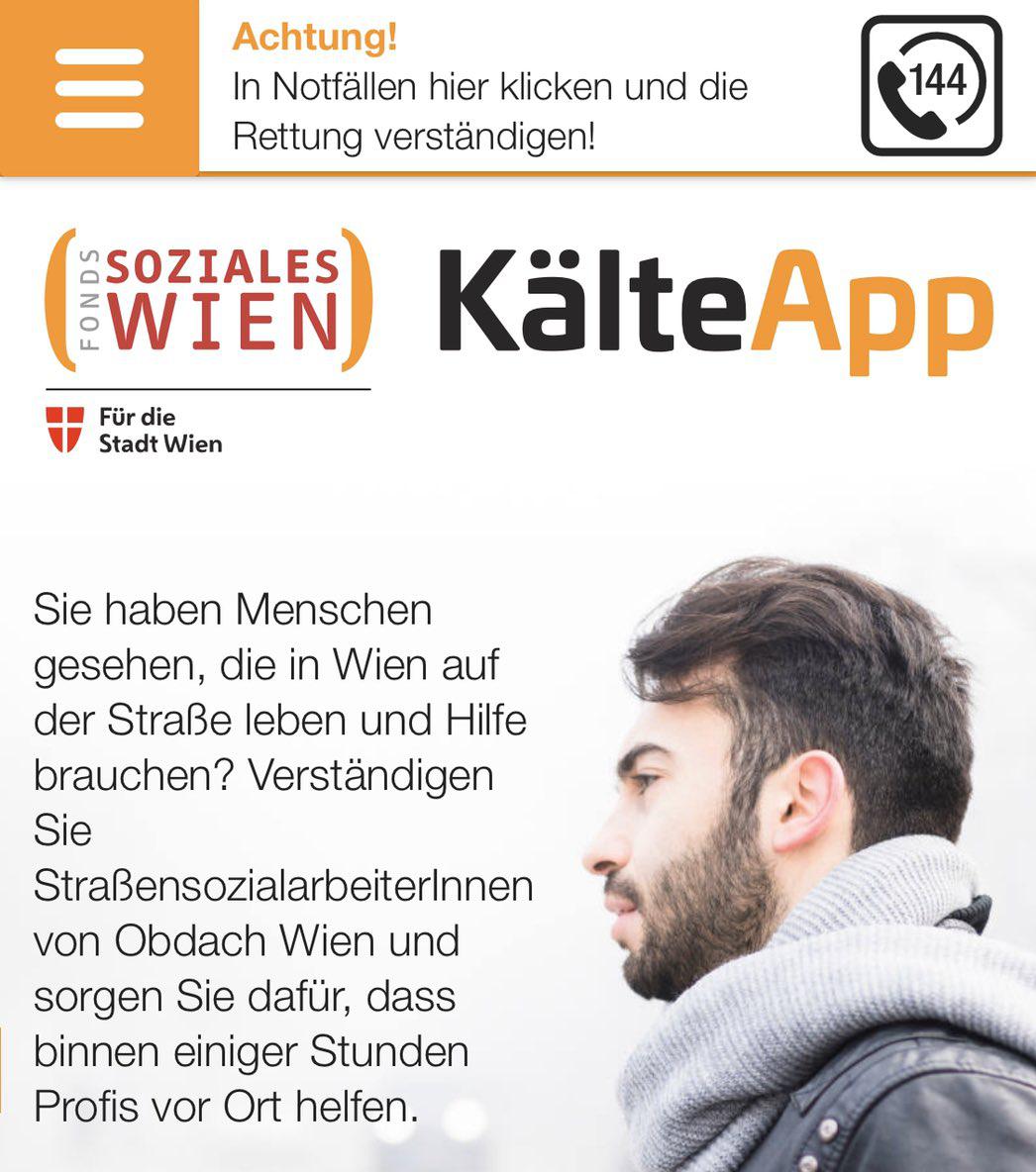 LuxActive KG übernahm die Umsetzung der Kälte-App für das Fonds Soziales Wien (FSW)