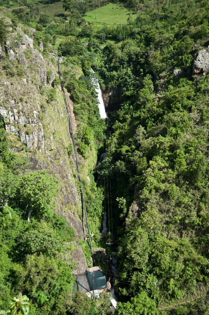 Der Wasserfall in Tinderet
