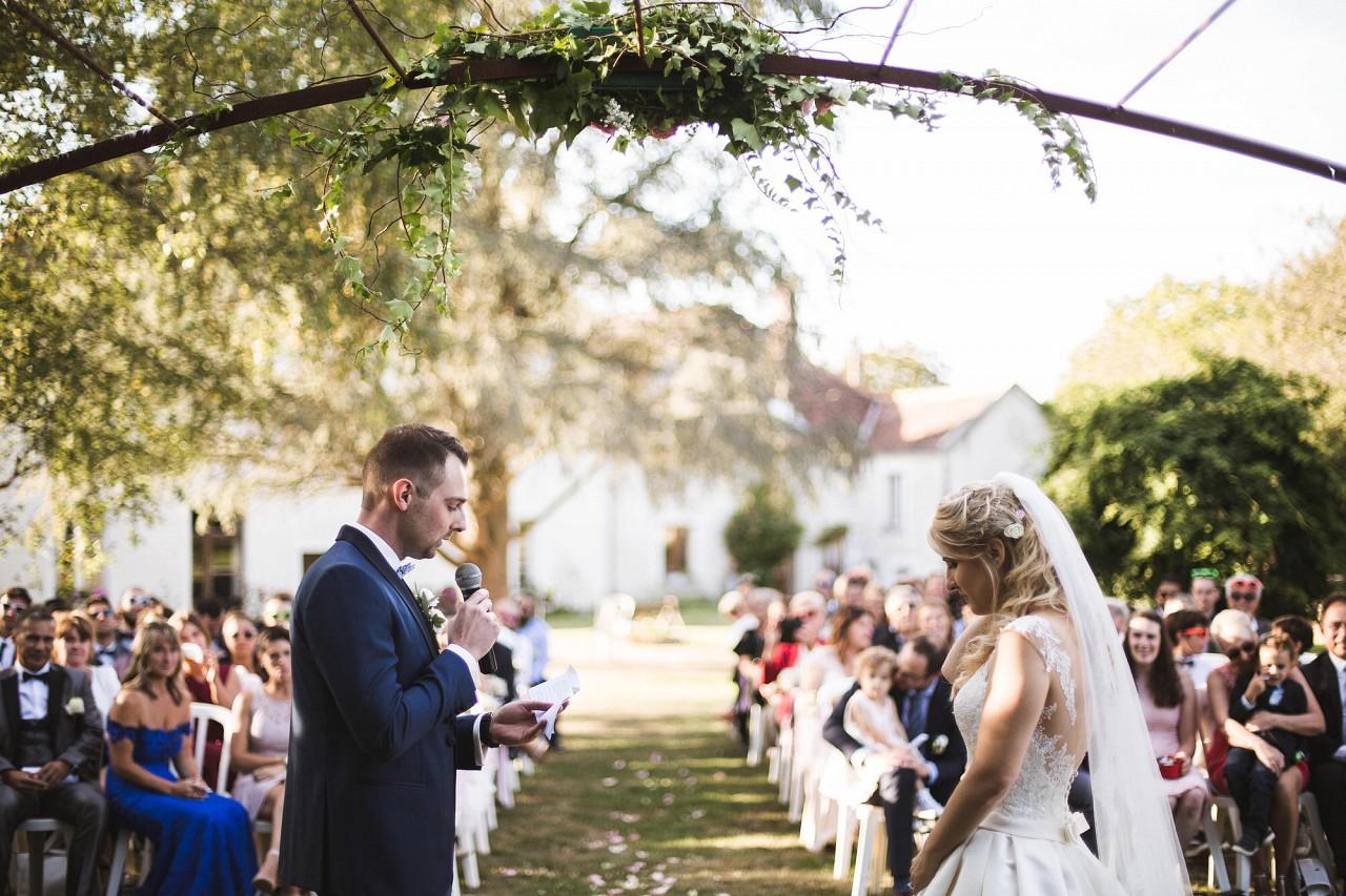 L'échange des voeux des mariés / crédit photo: David Gemini