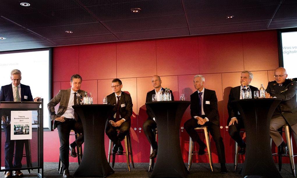 On stage with Lars Frelle-Petersen (EDI), Lukas Bruhin, Peter Fischer (ISB), Giovanni Conti (BIT) and Jean-Paul Theler (FUB)