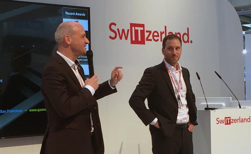 Damir Bogdan with Mathias Wegmueller, founder of @QumramAG