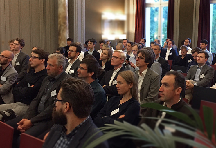 The audience in the Swiss Embassy in Berlin