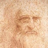 Leonardo da Vinci Selbstbildnis 1512 Rötelzeichnung Turin