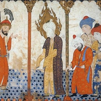 Le Prophète Muhammad avec ses compagnons