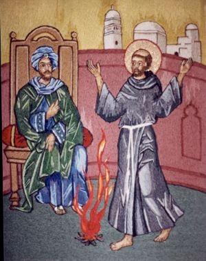 Saint-François et le Sultan d'Egypte en 1219