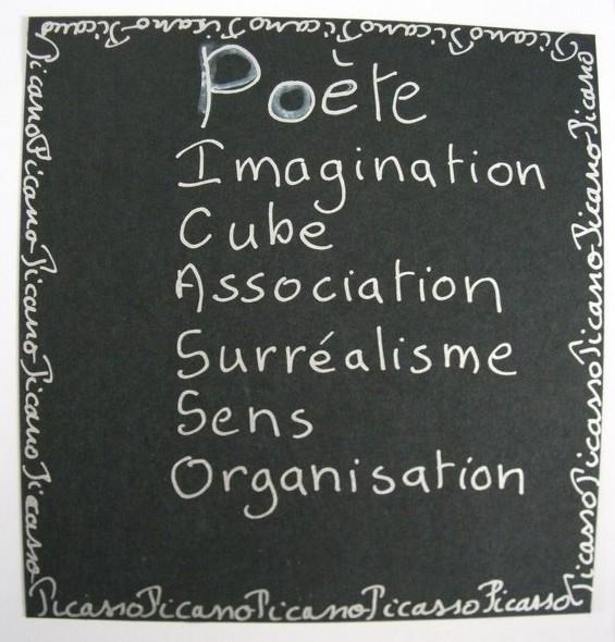 Créer un acrostiche à partir d'un mot évocateur de l'oeuvre