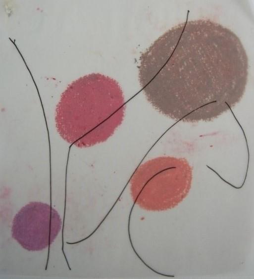 prélever la palette de couleurs de l'oeuvre. Prélever les grandes lignes qui la composent