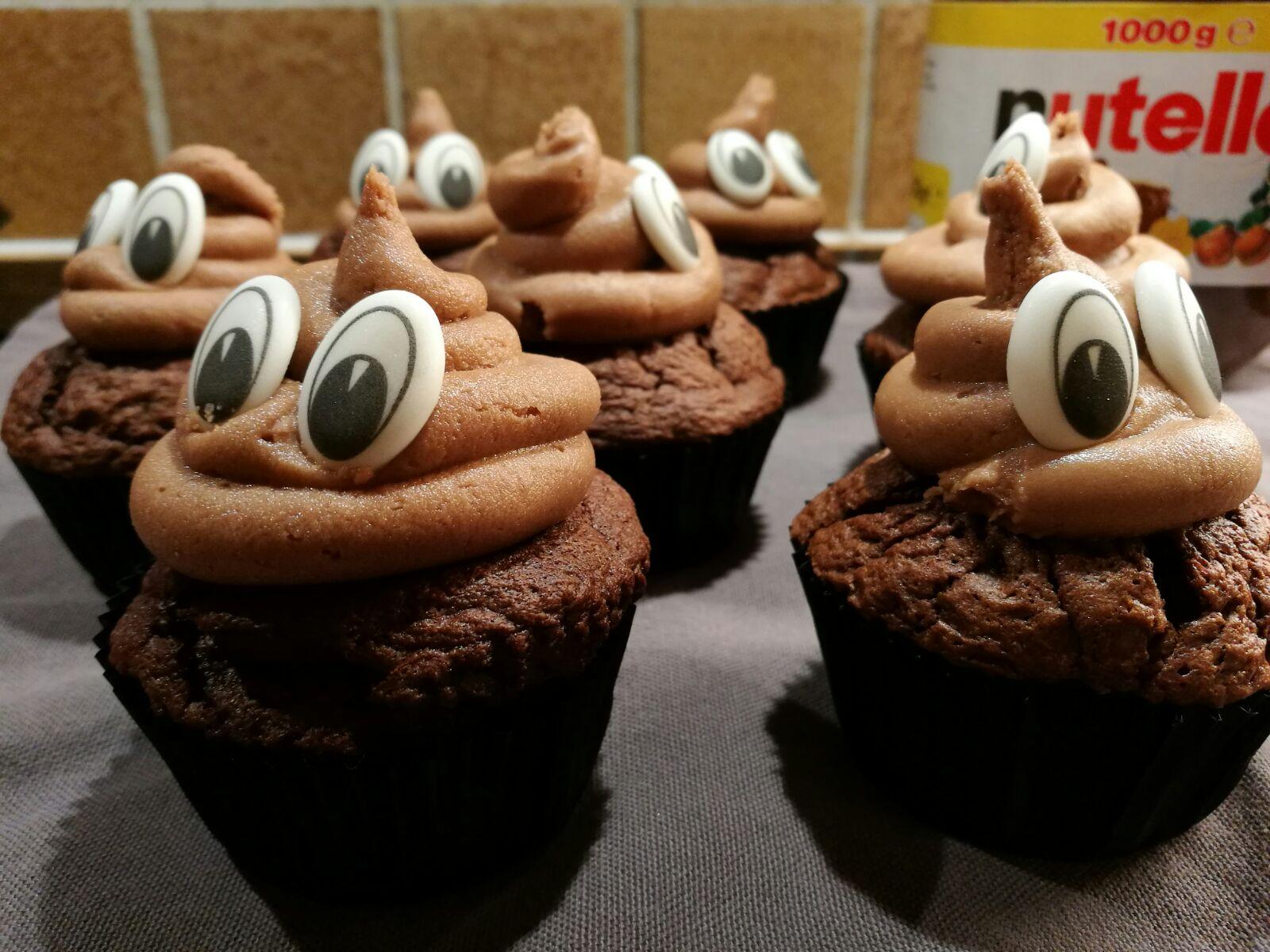 Kleine Abänderung: Giotto-Nutella Cupcakes