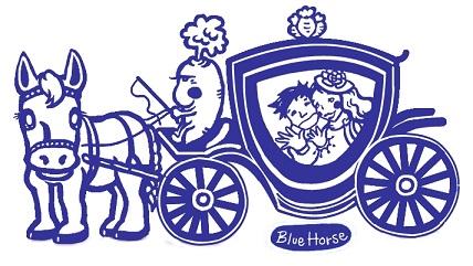 ブルーホースのロゴです。^^)
