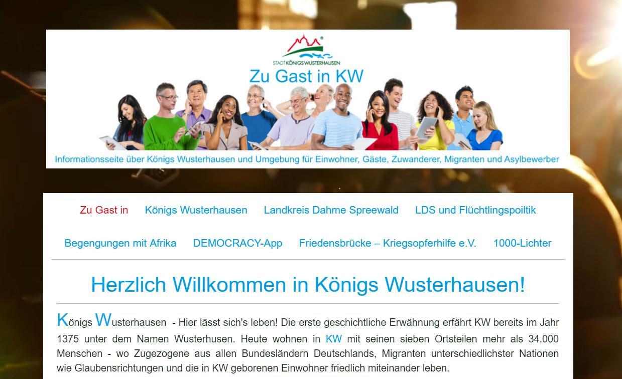 Zu Gast in KW - Willkommensinitiative (2015)
