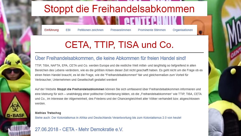 Stoppt die Freihandelsabkommen (2014)