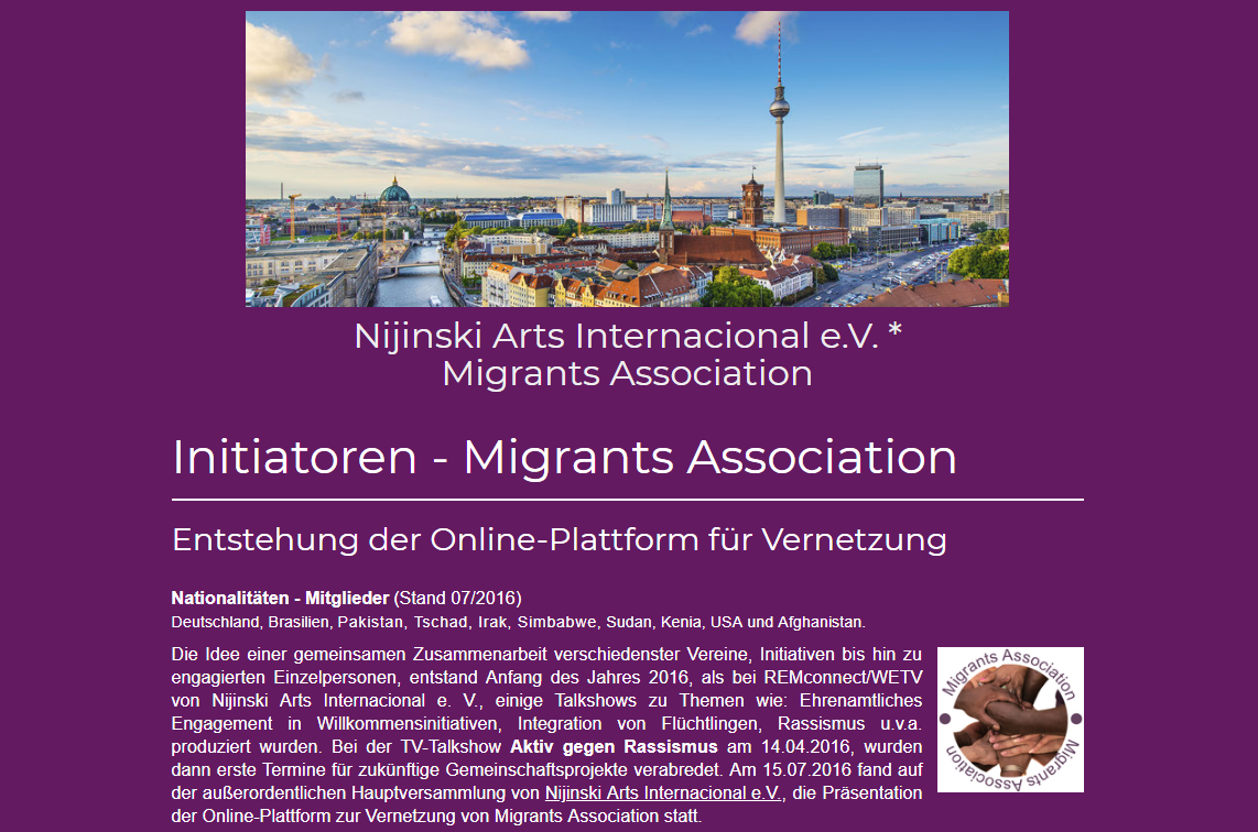 Nijinski Arts Internacional e. V. - Migrands Association (2016)