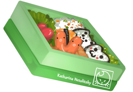 """Bento Box"" - Illustration für den Blog Daily Kawaii http://dailykawaii.bplaced.net/"