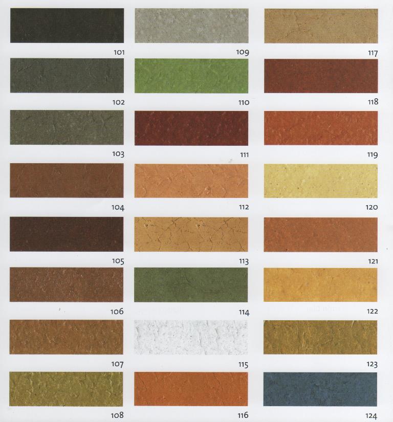 colores Hormigón impreso