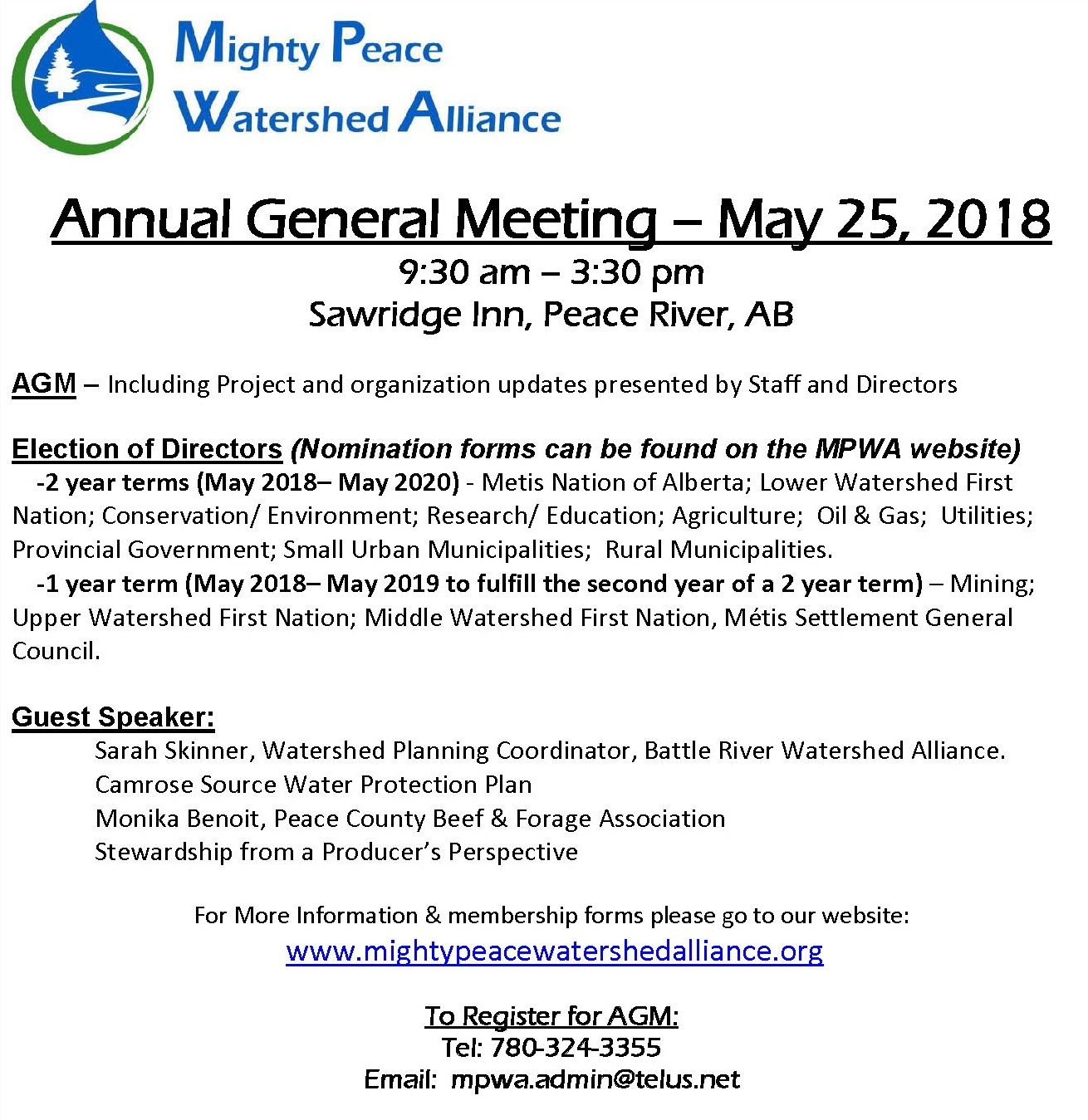 Annual General Meeting - Mighty Peace Watershed Alliance