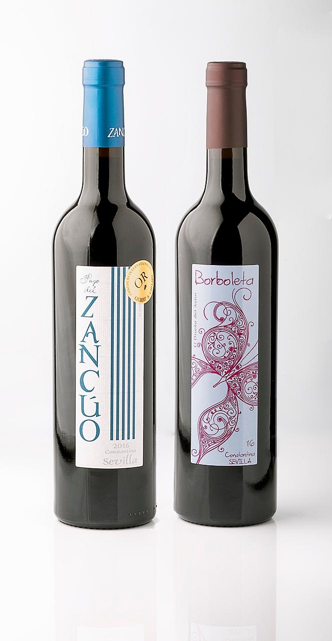 Foto de Producto. Vino Pago del Zancúo y Vino Borboleta