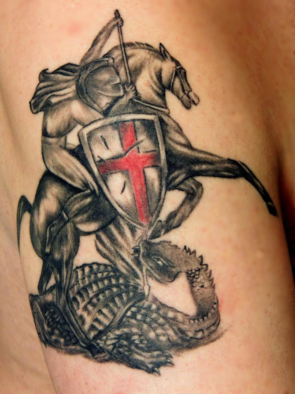 Tatto vom Wappen von Hattingen