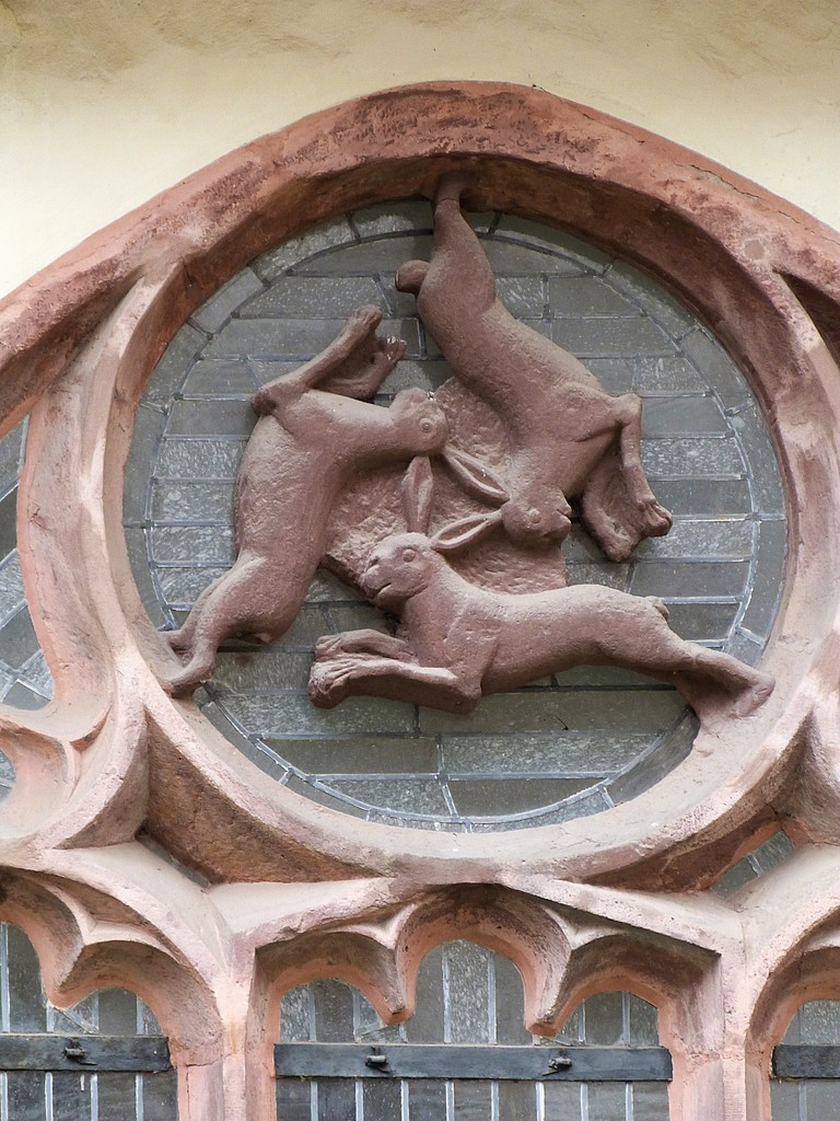 Dreihasenfenster; Wahrzeichen der Stadt Paderborn