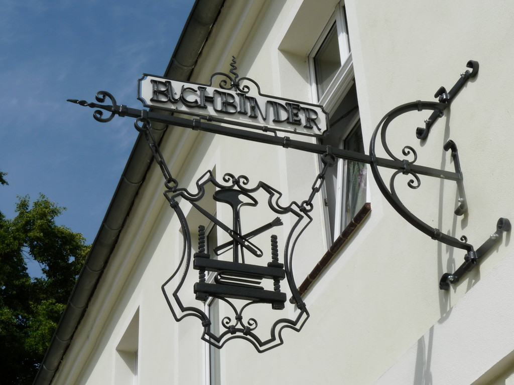 Buchbinder-Zunftzeichen in Lübben