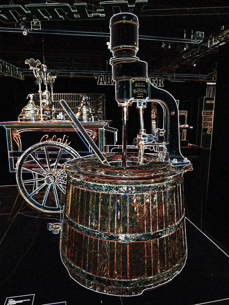 Eismaschine und Eiswagen aus den 50/60er Jahren