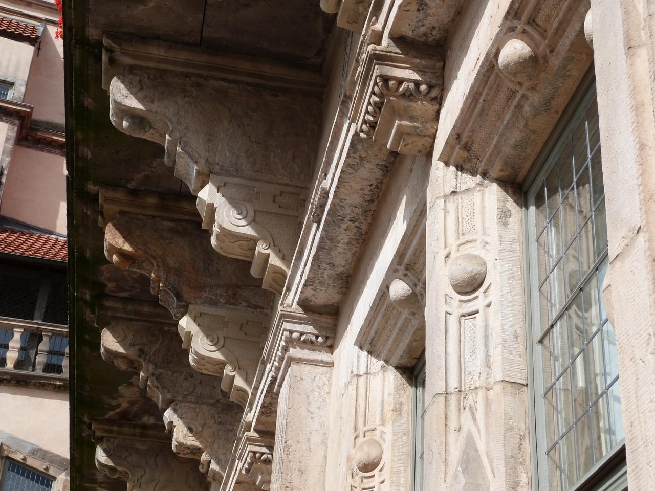 Detail des Renaissance-Flügels