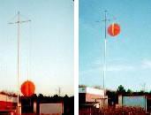 Der Stand des Balles zeigt Ihnen, wann Sie das Watt verlassen müssen.