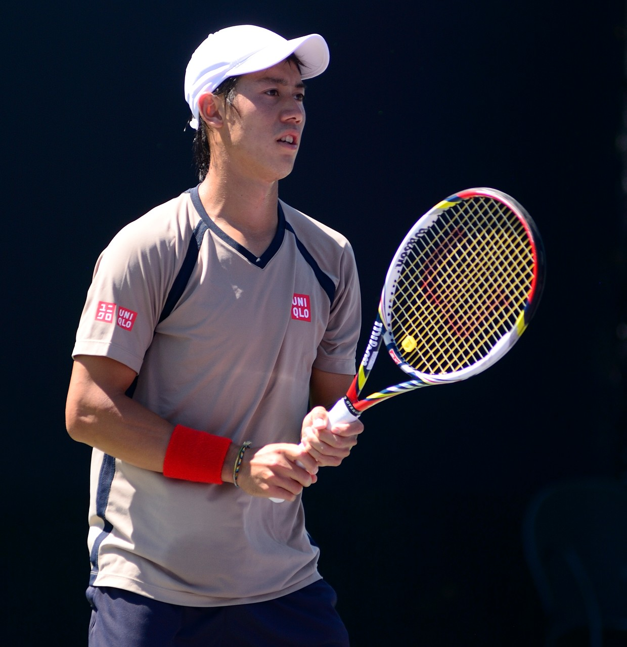 ... mit Kei Nishikori aus Japan zu tun. Der Weltranglisten-Fünfte stand bei den US Open 2014 in seinem ersten Grand-Slam-Finale. (Foto by: Charlie Cowins [CC BY 2.0 (http://creativecommons.org/licenses/by/2.0)], via Wikimedia Commons)