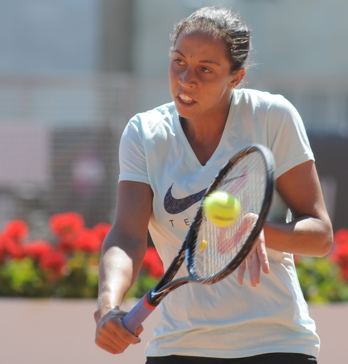 Madison Keys ist die einzig ungesetzte Spielerin im Viertelfinale. Sie bekommt es nun mit... (Foto by: Tatiana from Moscow, Russia - Madison Keys. Licensed under CC BY-SA 2.0 via Wikimedia Commons)