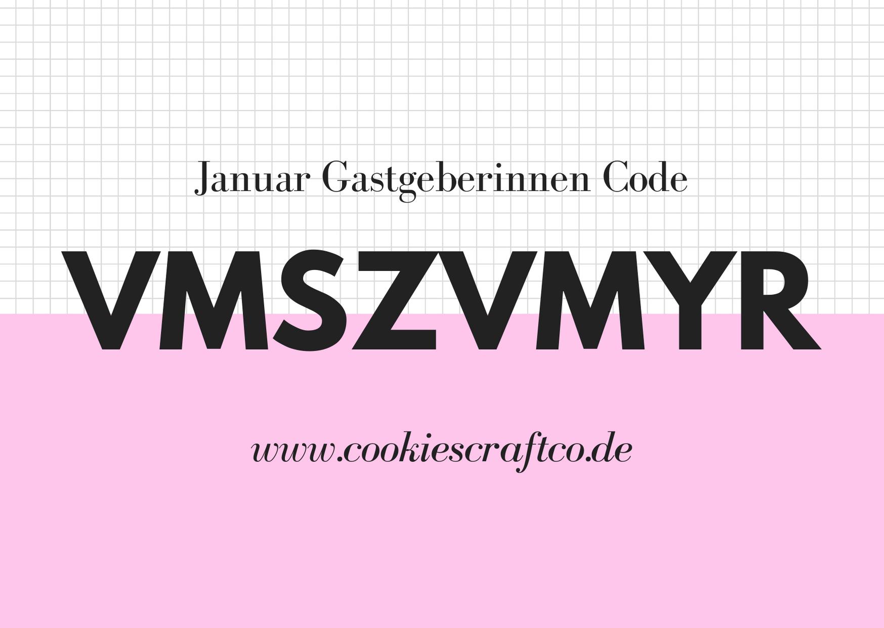 Januar - Gastgeberinnencode VMSZVMYR