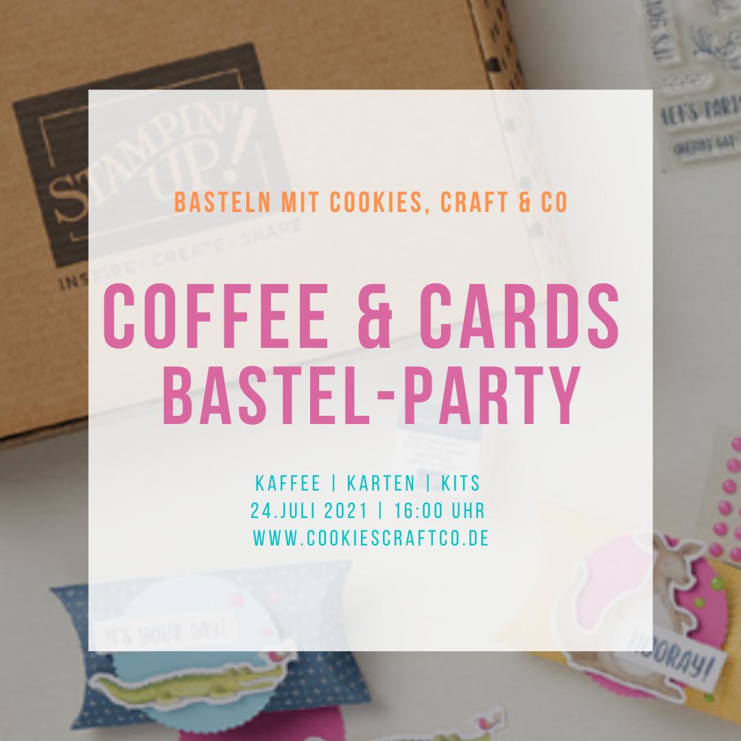 Coffee & Cards im Juli - Neue Kits & Bastelparty