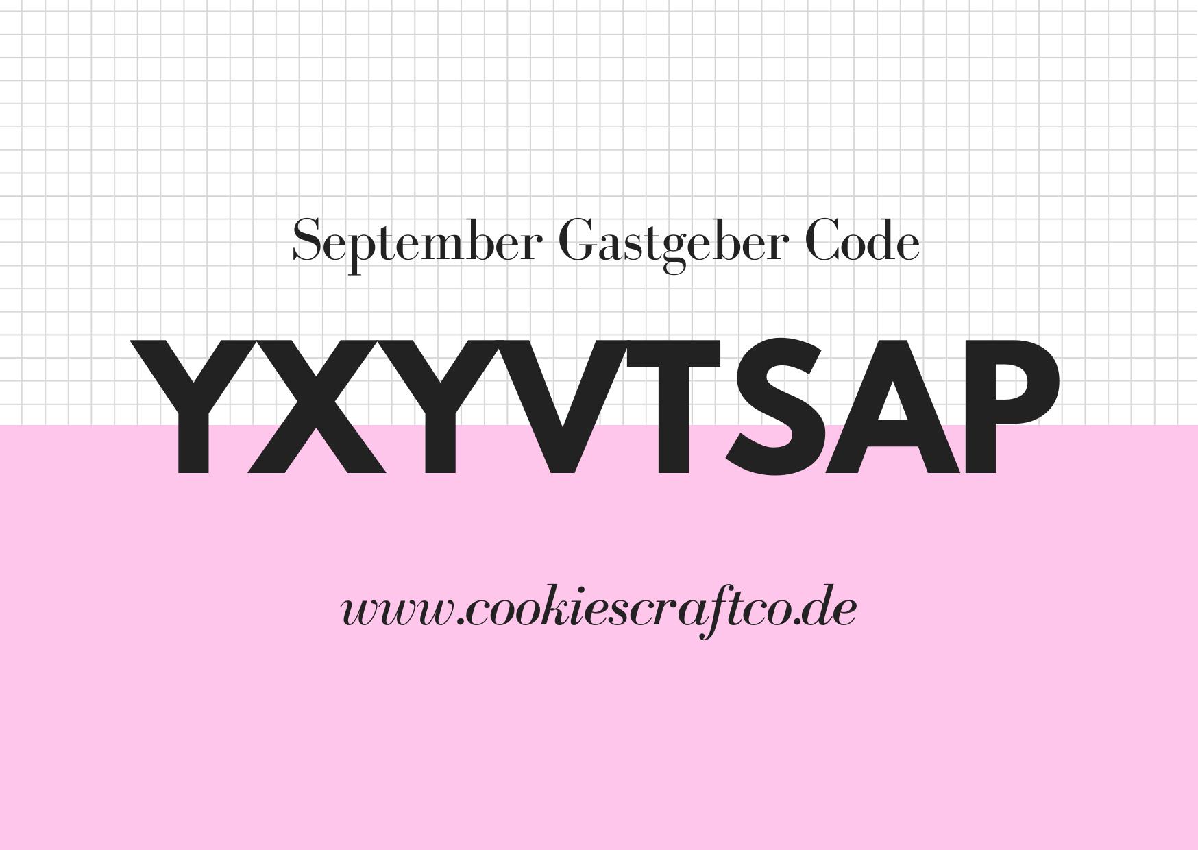 September - Gastgeberinnencode YXYVTSAP
