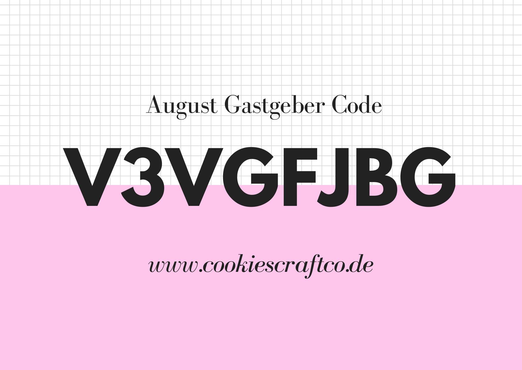 August - Gastgeberinnencode V3VGFJBG