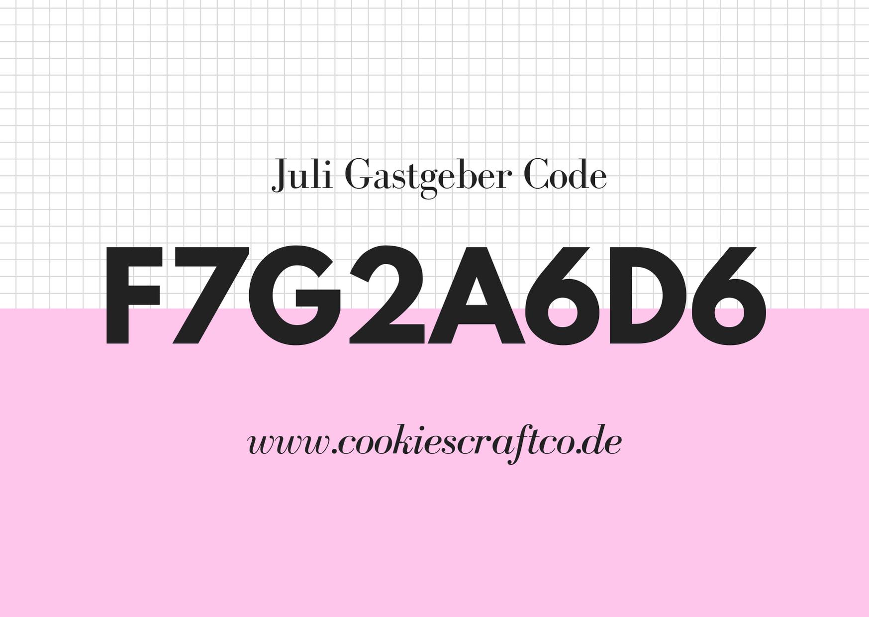 Juni - Gastgeberinnencode F7G2A6D6