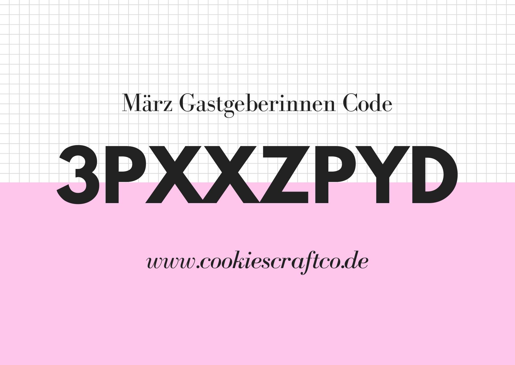 März  - Gastgeberinnencode 3PXXZPYD