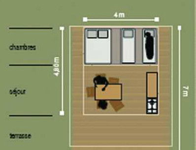 Campsite Les Saules in Cheverny - Loire Valley - The rentals - Plan of the cabatentes
