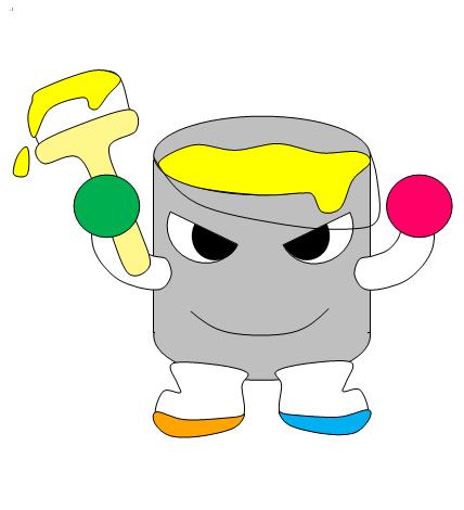 大会キャラクター「パレットくん」の友だちデザイン