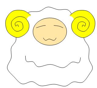 羊イラスト3 お餅のような・・のほほん羊