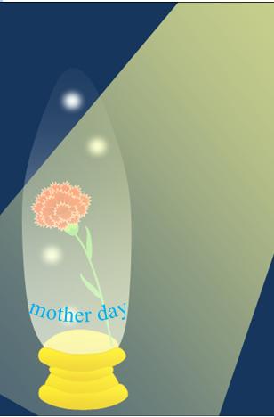 母の日のスノードーム