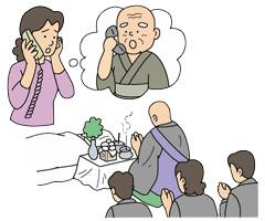 4、宗教者様へ葬儀の依頼と枕経
